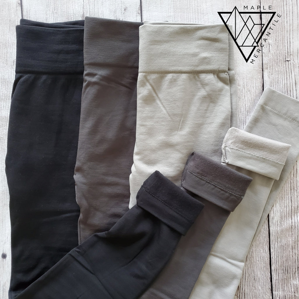Fleece Leggings - 3 Colors