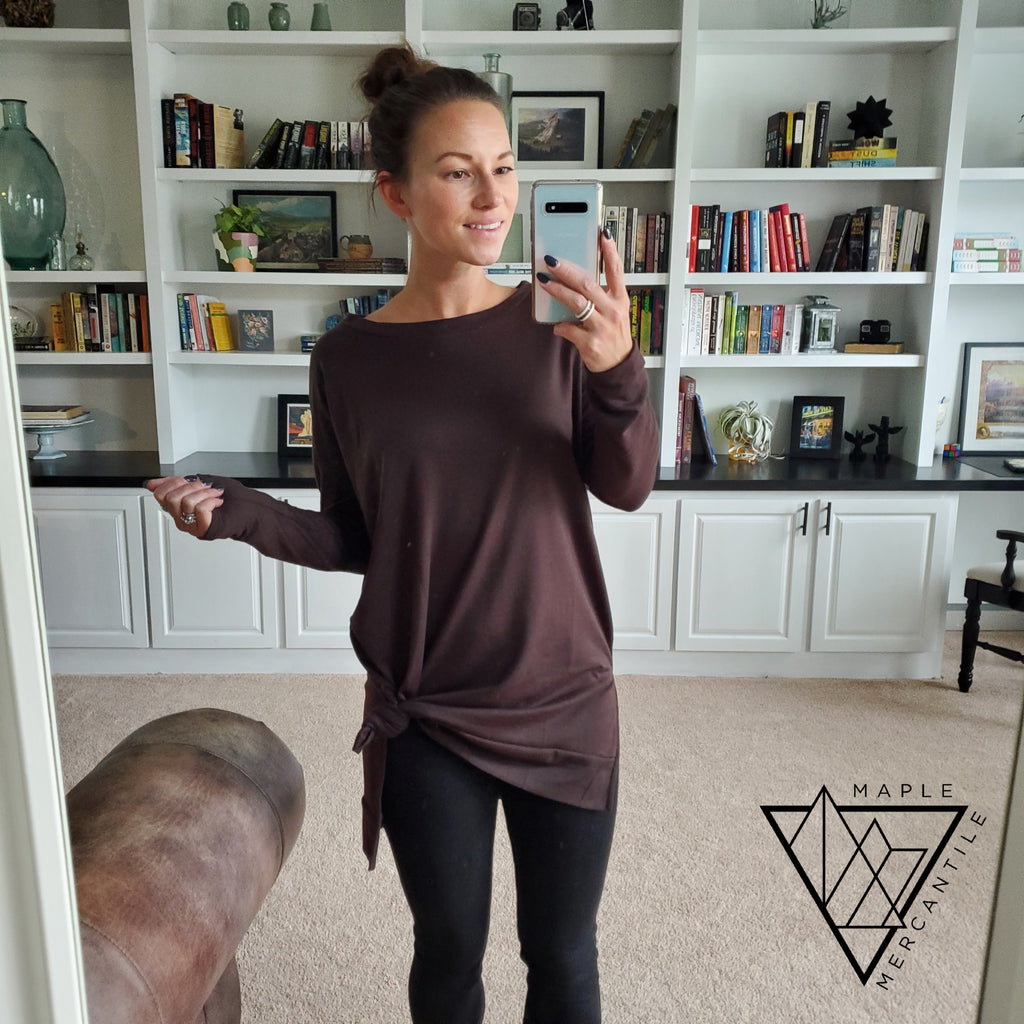 Brown Pullover Tunic