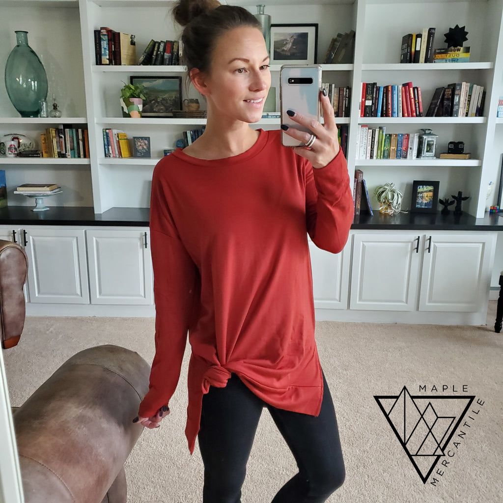 Rust Pullover Tunic