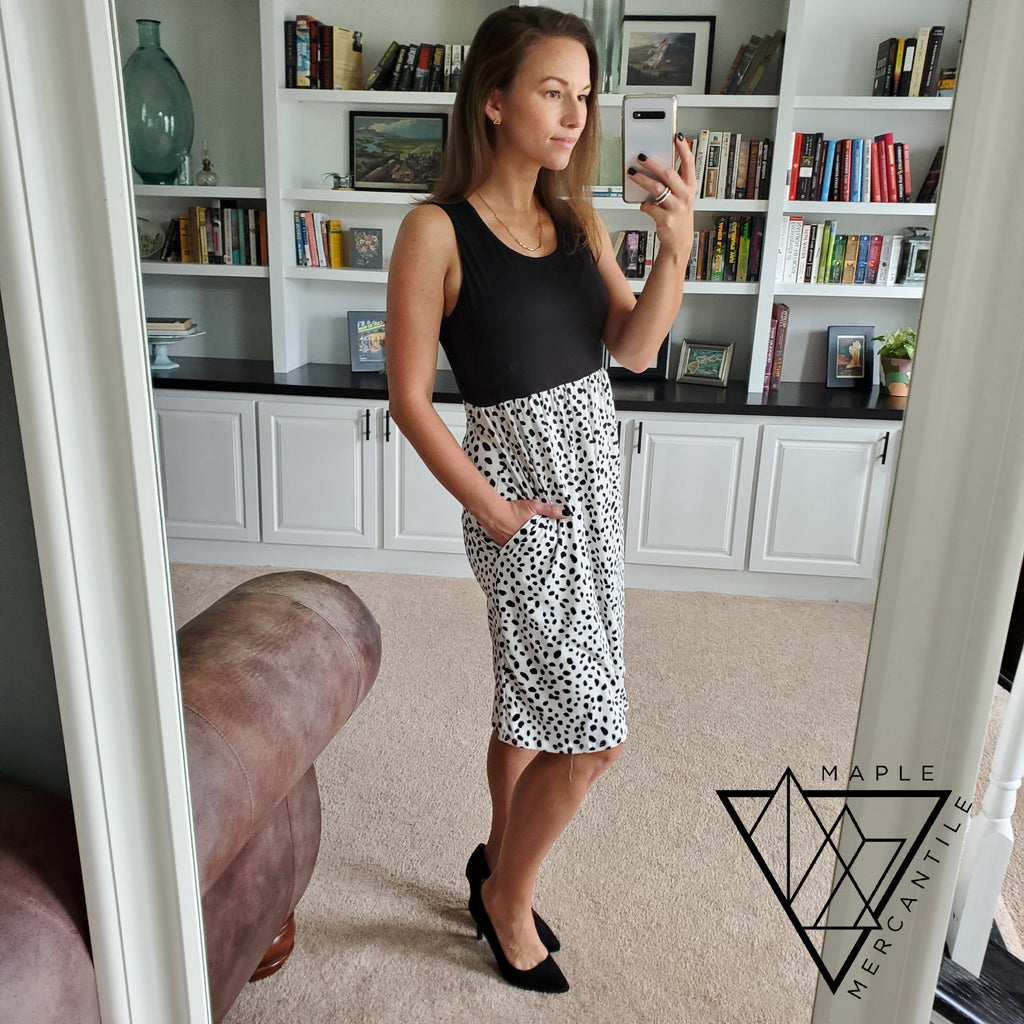Dalmatian Empire Waist Dress