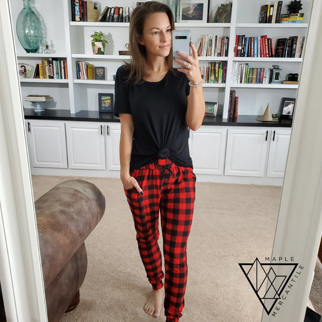 Buffalo Plaid Legging Joggers