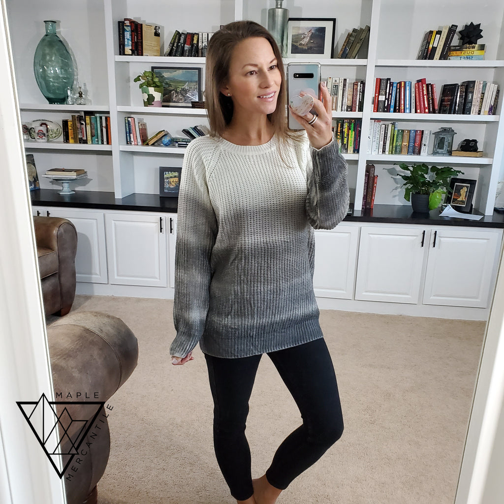 Gradient Oversized Knit Sweater