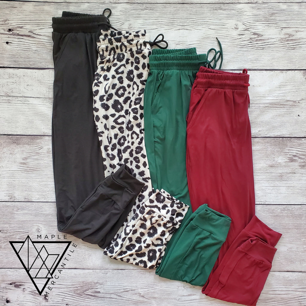 The Legging Jogger - Burgundy