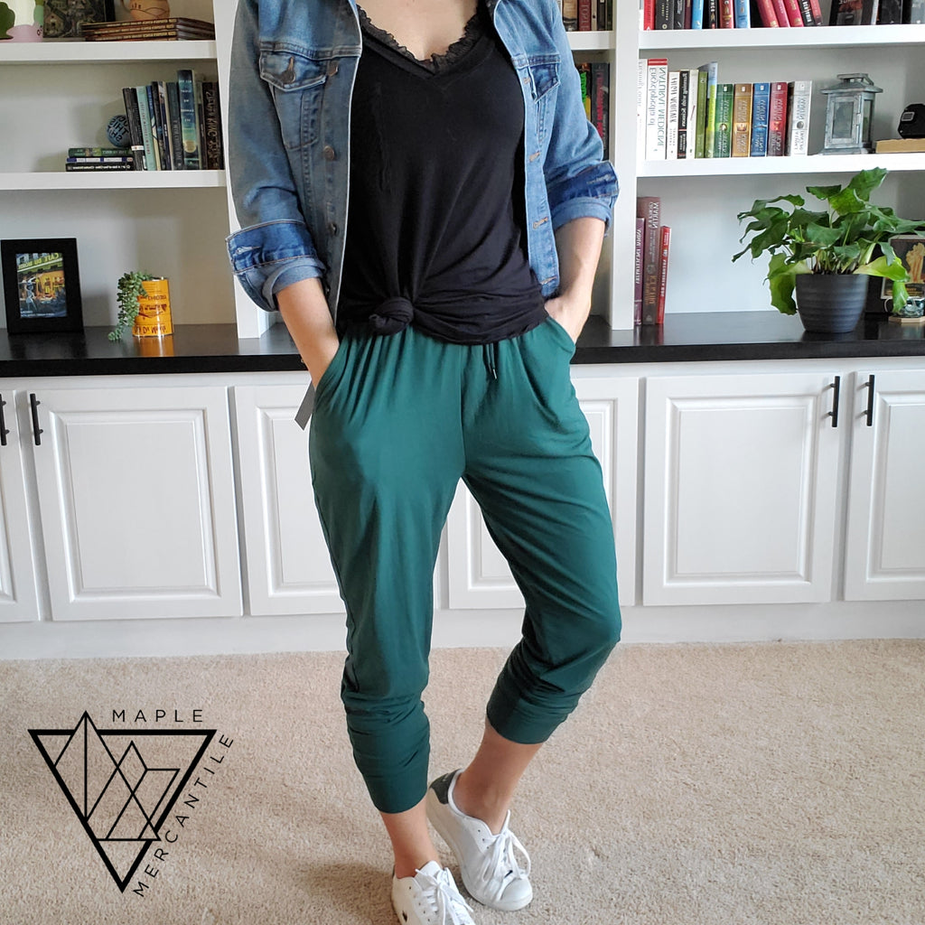 The Legging Jogger - Forest Green
