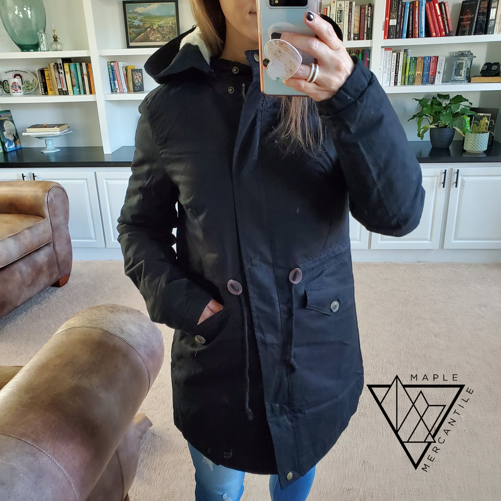 Padded Fur Hood Anorak Jacket