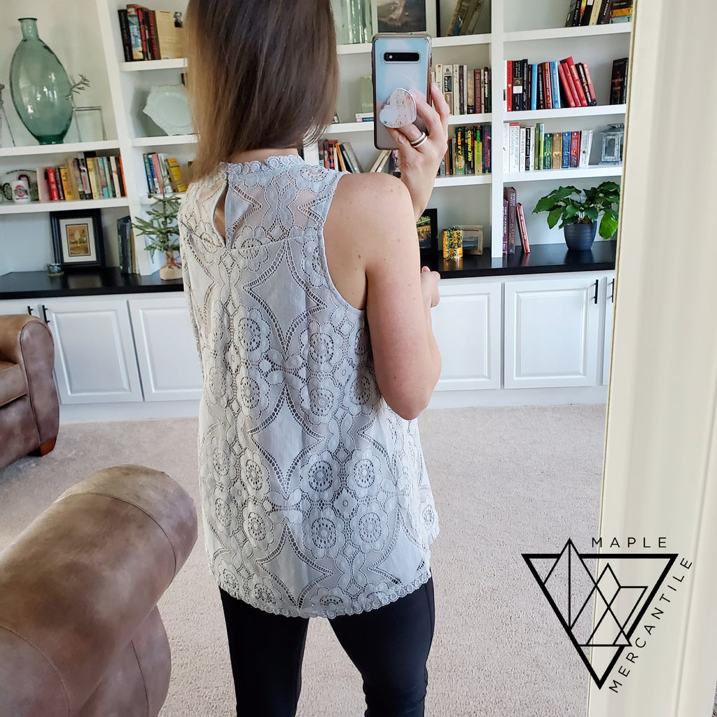 Lacey Tank Top - Grey
