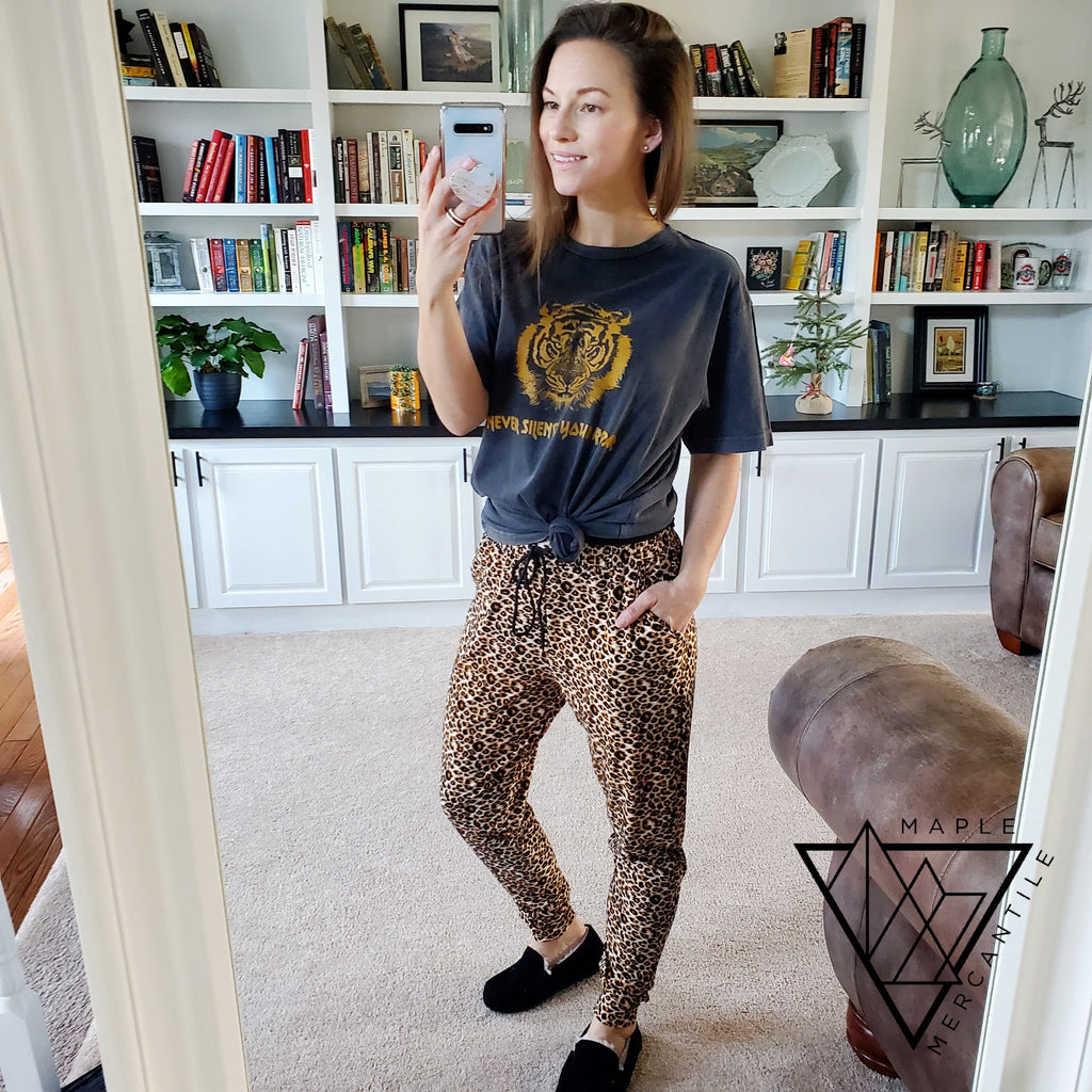 The Legging Jogger - Leopard