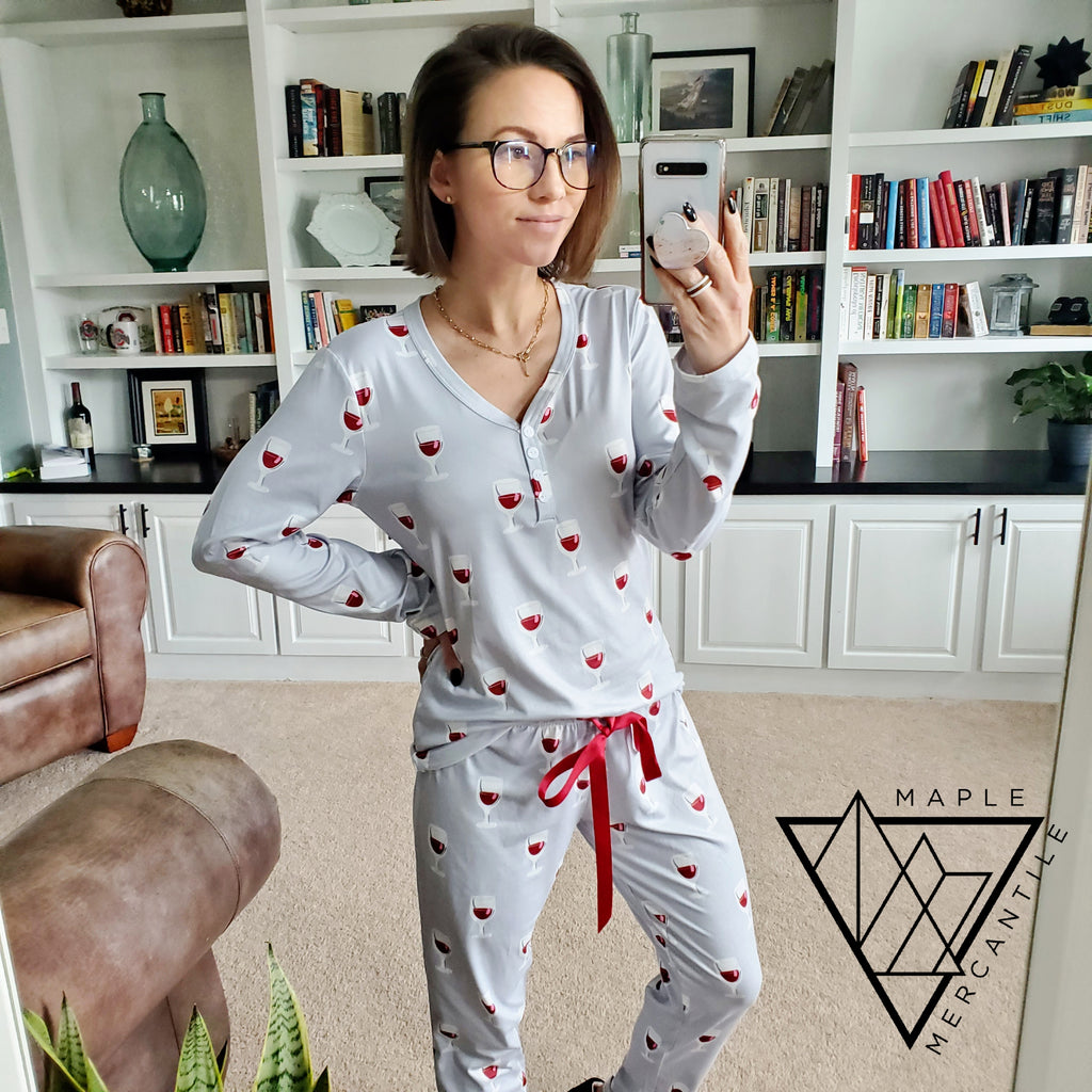 Wine PJ Set