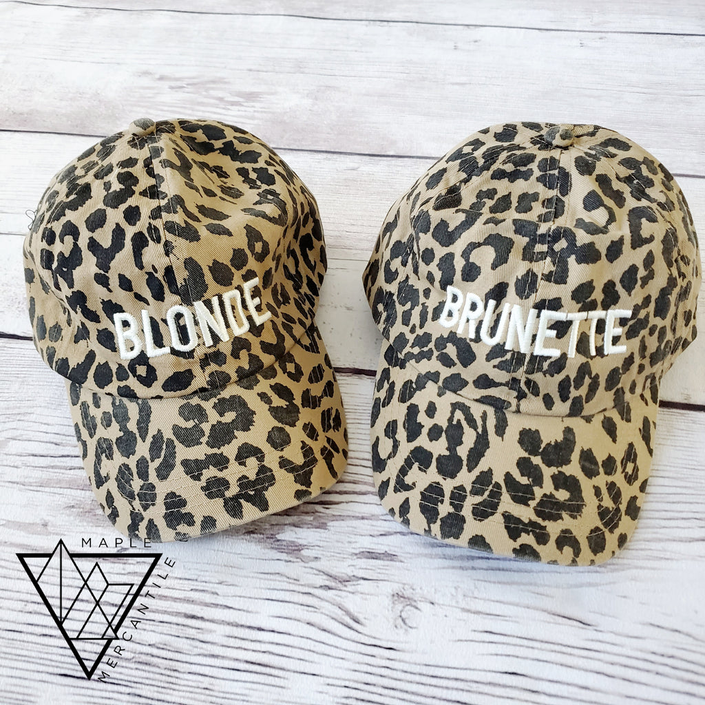 Leopard Blonde/Brunette Hat