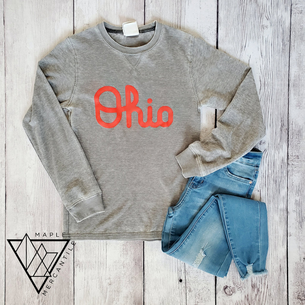 Vintage Ohio Script Thermal