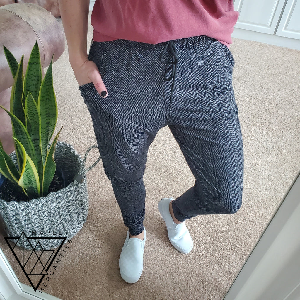 The Legging Jogger - Herringbone