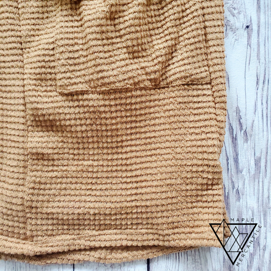 Camel Pocket Cardigan