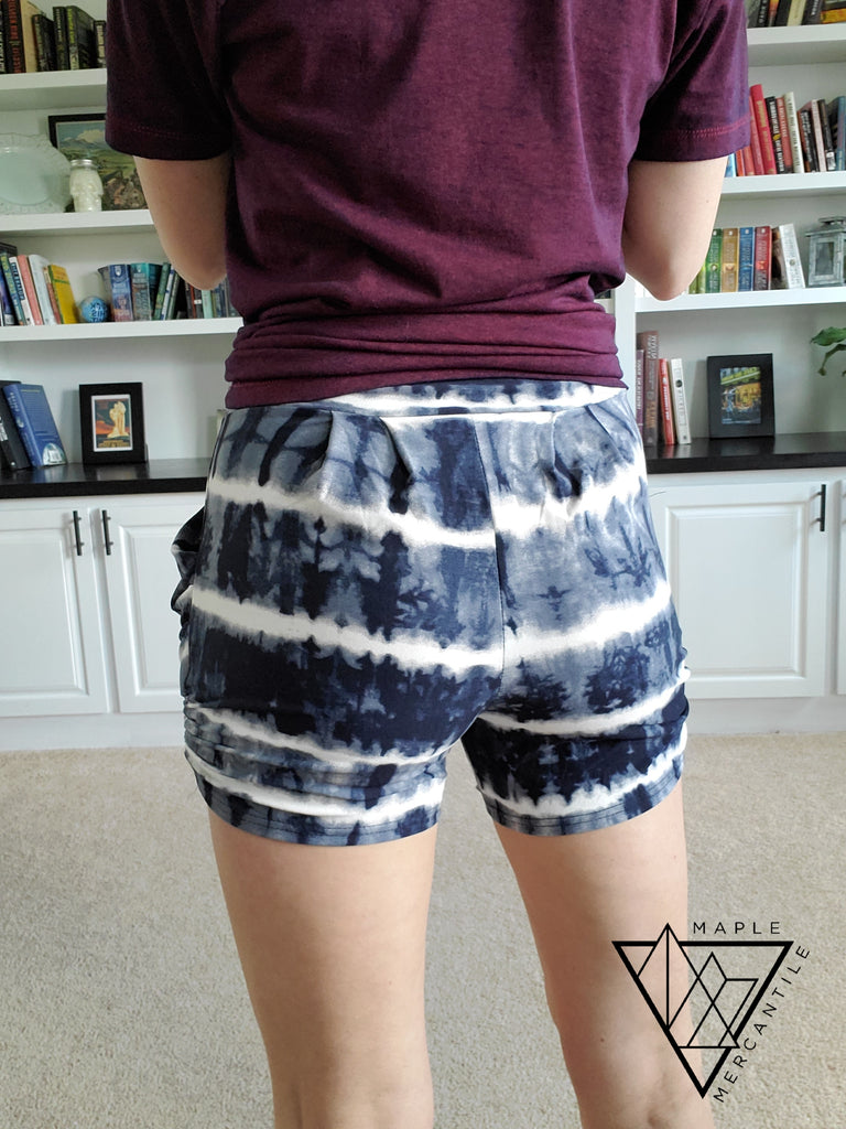 The Lounge Short - Navy Tie Dye