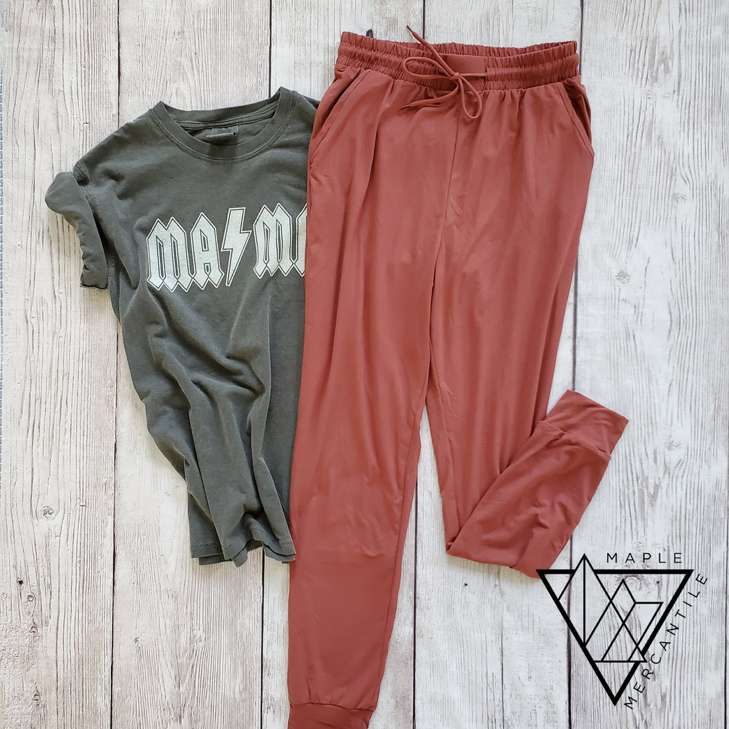 The Legging Jogger - Marsala