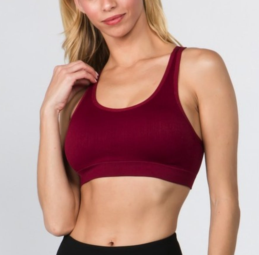 Macrame Cut Out Sports Bra - 2 colors