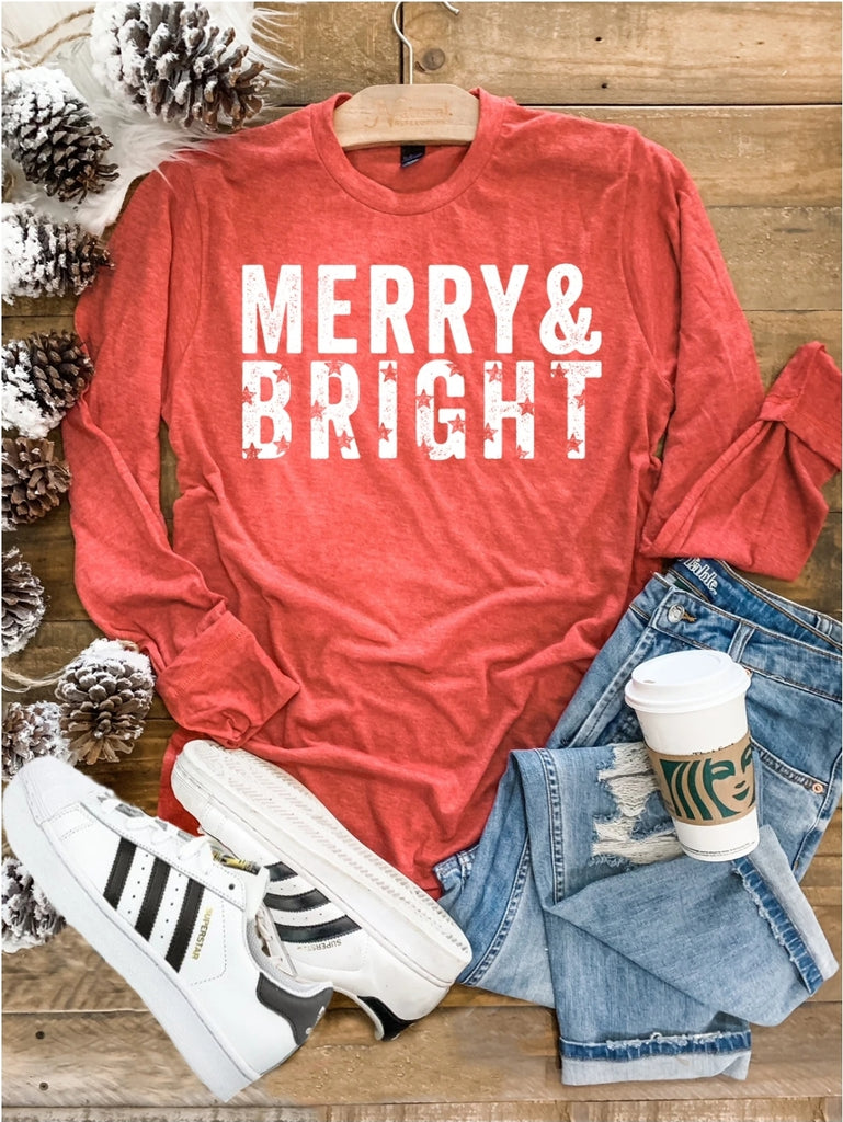 Merry & Bright Long Sleeve Top