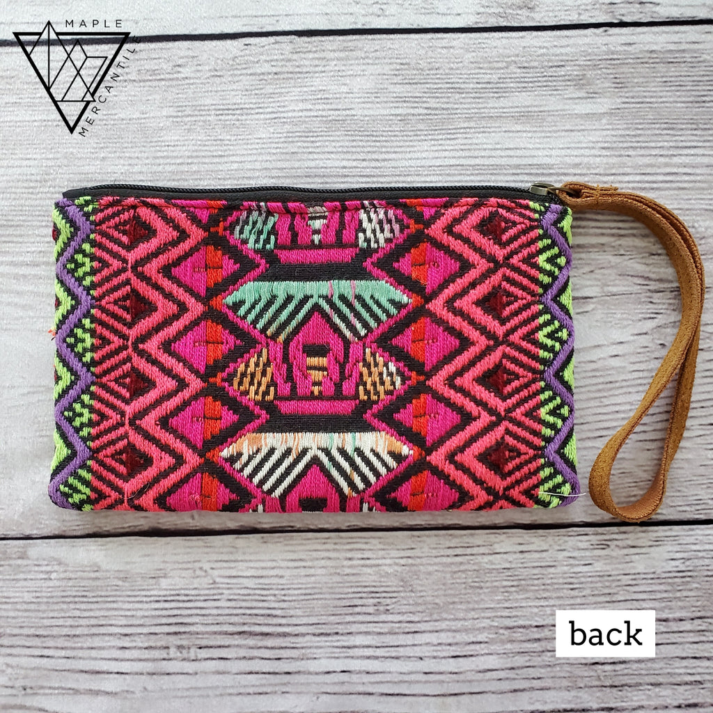 Embroidered Wristlet - Bright
