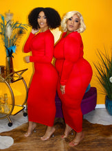 BODY FITTED MAXI RED
