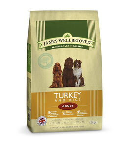 James Wellbeloved Turkey & Rice Adult Dry Dog Food - 1