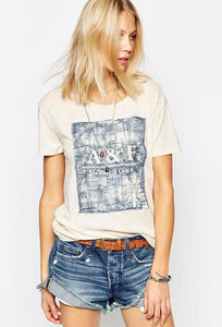 Square Embroidery T-Shirt