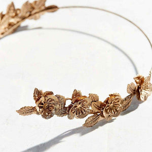 Golden flower headband