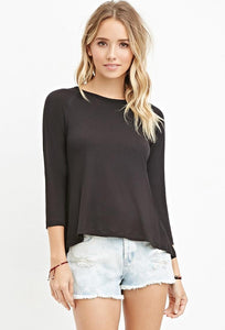 Brown Slub Knit Top