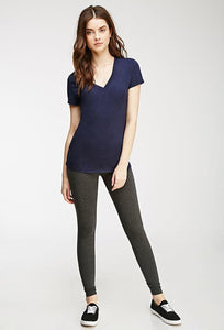 Blue Cotton Leggings