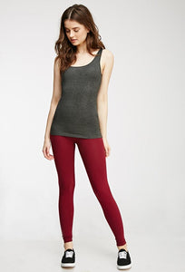 Red Cotton Leggings