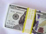 100 Pcs $100 Dollar Paper Play Money Movie Props Banknotes