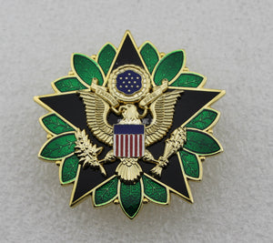 US Army Chief of Staff Office Soldier & Staff Service Badge Solid Copper Replica Movie Props