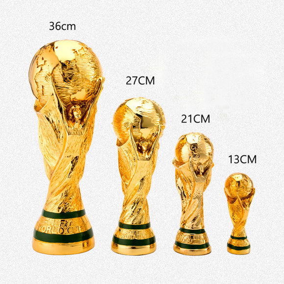 2018 Russia FIFA World Cup Trophy Model Soccer Championship Fans Souvenir Replica Size 5