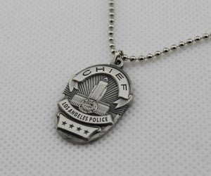 LAPD Police Badge Necklace 1