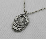 LAPD Police Badge Necklace 2