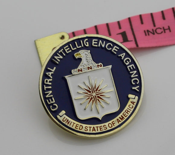 US CIA Central Intelligence Agency Eagle Badge Solid Copper Replica Movie Props