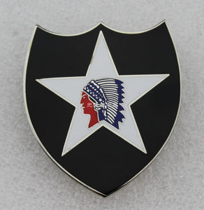 US Army Second Infantry Division Indian Division ASU Badge Replica Movie Props