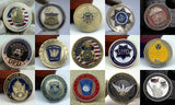 15 Pieces US Federal Law Enforcement Police Badge Challenge Coins