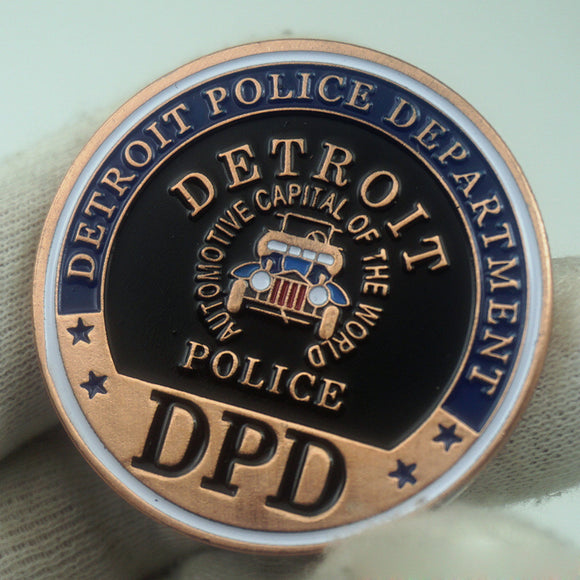 US DPD Detroit Police Badge Challenge Coin