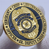 Michigan Portage Police Badge Challenge Coin