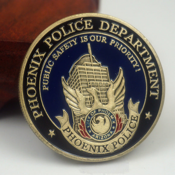 US Arizona Phoenix Police Badge Challenge Coin