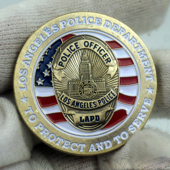 LAPD Los Angeles Police Officer Badge Challenge Coin