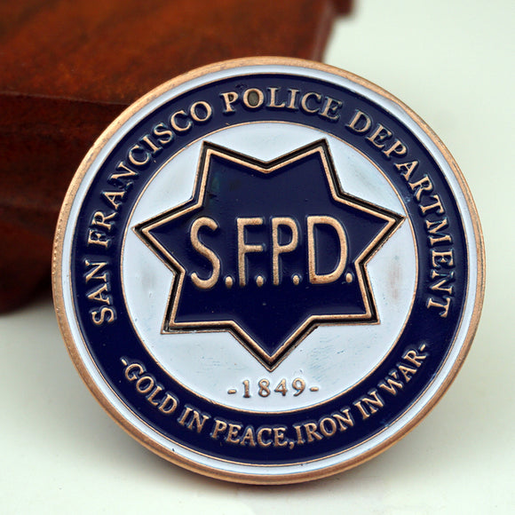 SFPD San Francisco Police Badge Challenge Coin