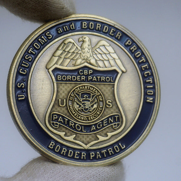 CBP Border Patrol Agent Badge Challenge Coin