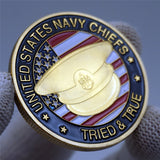 US Navy Chiefs Cap Badge Challenge Coin