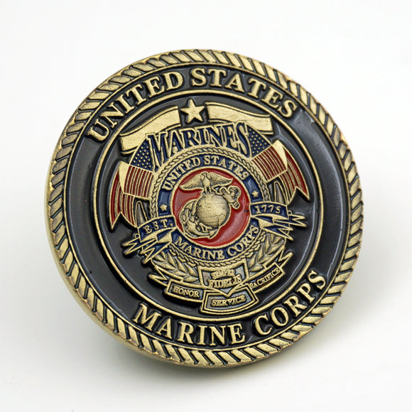 US Marine Corps Dogs of the War Badge Challenge Coin
