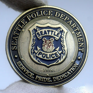 US Seattle Police Badge Challenge Coin