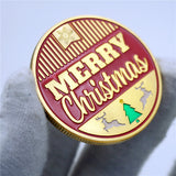 Lovely Santa Claus Merry Christmas Father Xmas New Year Holiday Gift Gold Coin