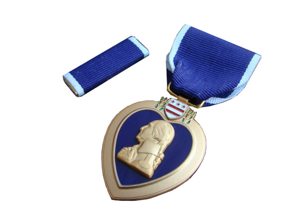 US Purple Heart Meritorious Service Medals for Military Merit With Box
