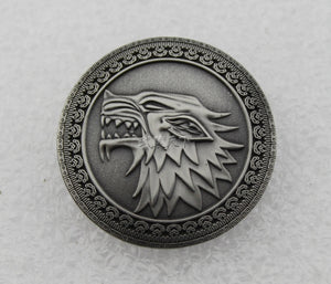 Game of Thrones Dragon Head Badge Brooch Pin Lapel Pin Movie Props