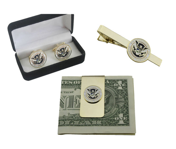 US DHS Department of Homeland Security Cufflinks/ Money Clip/ Tie Clip