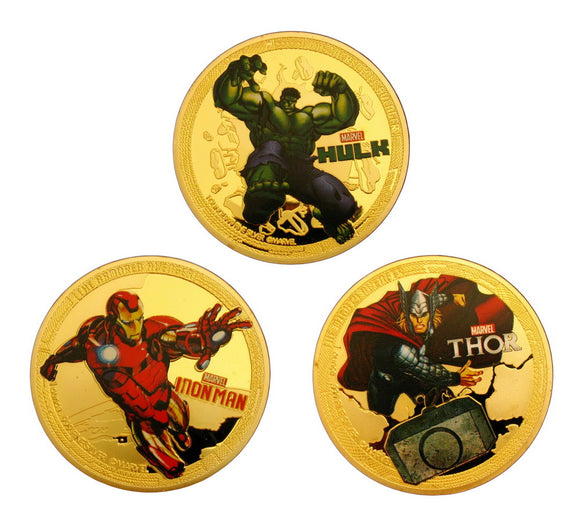 The Avengers Gold Coins Set